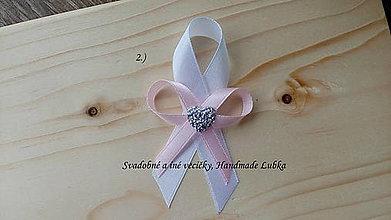 Pierka - Svadobné pierka - biela a svetlá ružová - 8188382_