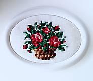 Miniaturní plastický obrázek-růžičky