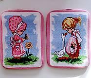 Duo obrázky- děvčátka na louce