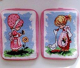 Obrázky - Duo obrázky- děvčátka na louce - 8186935_