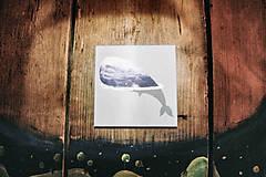 Leporelo 13x13 ,,Modrá veľryba,,