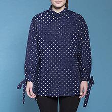 Košele - modrotlačová košeľa BODKY - 8188121_
