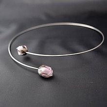 Náhrdelníky - Náhrdelník  PET ružové puky - 8187770_