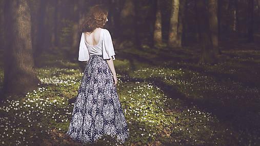 Sukne - Modrotlač - dlhá sukňa - 8190013_