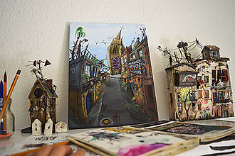 Obrazy - Maľovaný obraz \