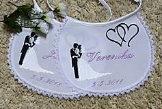 Iné doplnky - svadba -podbradníky vyšívané - 8189524_