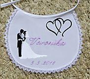 Iné doplnky - svadba -podbradníky vyšívané - 8189526_
