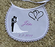 Iné doplnky - svadba -podbradníky vyšívané - 8189527_