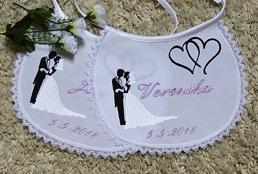 svadba -podbradníky vyšívané