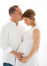 Tehotenské/Na dojčenie - Amalia white dress - 8188915_