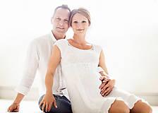 Tehotenské/Na dojčenie - Amalia white dress - 8188930_