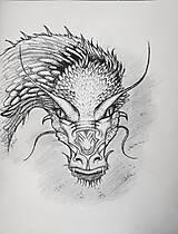 Kresby - dračí pohľad... - 8187156_