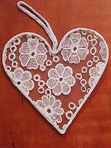 Dekorácie - Čipkované srdce 25cm - 8190059_