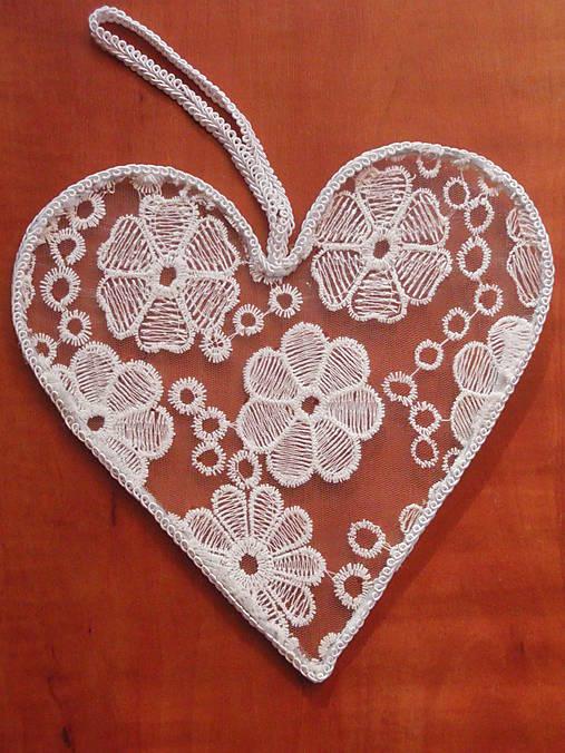 9ef5896a8 Čipkované srdce 25cm / erikak - SAShE.sk - Handmade Dekorácie
