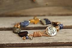 - Bohemian náramok z minerálov jaspis, sodalit - 8187259_
