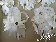 Darčeky pre svadobčanov - Mašličky na fľaše - 8189517_