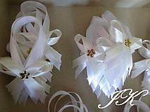 Darčeky pre svadobčanov - Mašličky na fľaše - 8189518_