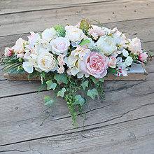 Dekorácie - Dekorácia na stôl mladomanželov pastelová - 8192063_