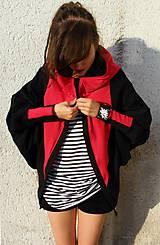 Mikiny - Cardigan/mikina JUNGFER rot - 8192305_