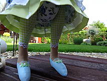 Bábiky - Myška zelenomodrá - 8193198_