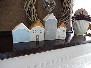 Dekorácie - Drevené domčeky pre Lenku - 8190145_