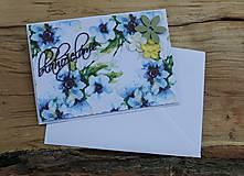 Papiernictvo - žlto-modrá_ pohľadnica - 8193734_