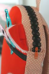 Detské tašky - RUKSAK baby LÍŠKA oranžový od 4r. - 8193782_