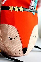 Detské tašky - RUKSAK baby LÍŠKA oranžový od 4r. - 8193783_