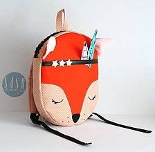 Detské tašky - RUKSAK baby LÍŠKA oranžový od 4r. - 8193779_