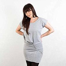 Šaty - Riasené krátke šaty - Na mieru (D1) - 8190765_