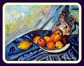 Obrazy - Zátišie s ovocím a džbánom - 8190101_