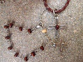 Sady šperkov - sada ruženček na ruku + náhrdelník - 8190951_