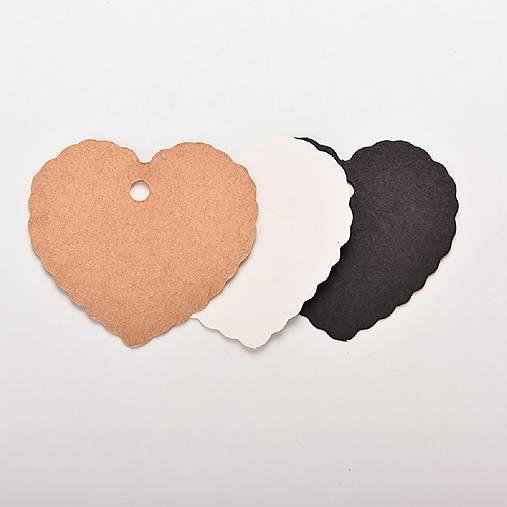 72be007a2 6ks papierové srdce - natural hnedá farba / HannyMarchfeld - SAShE ...