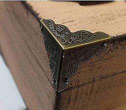 Komponenty - Kovový roh na krabičky - Inka  sada 4 kusy - 8192990_