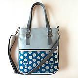 Veľké tašky - Basic - Zipp - Metalický vzor - Jelene - 8190926_
