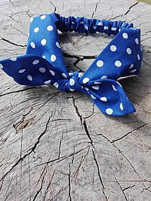 Ozdoby do vlasov - Modro-guličková čelenka - 8191244_
