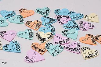 Darčeky pre svadobčanov - Magnetky - srdiečka s ľudovým vzorom - 8193460_