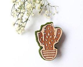Odznaky/Brošne - Kaktus odznak - 8191289_
