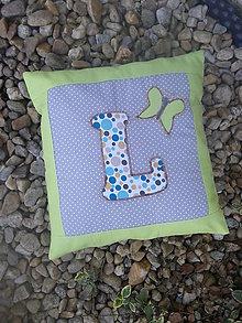 Textil - vankúšik s písmenkom do hniezda - 8190745_