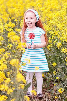Detské oblečenie - Letné šaty Lollipop - 8190384_