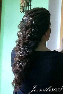 Ozdoby do vlasov - Girlanda do vlasov pre nevestu - 8193757_