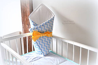 Textil - Zavinovačka na suchý zips, s mašľou na uviazanie - 8197310_