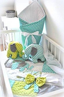 Textil - Zavinovačka na suchý zips, s mašľou na uviazanie - 8197424_