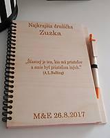 Nezaradené - Drevený zápisník formátu A5  - 8196795_