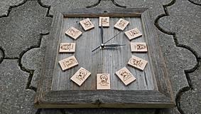 Drevené hodiny 12 apoštolov