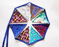Dekorácie - Girlanda ladená s modrou šnúrkou - 8195410_
