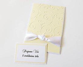 Papiernictvo - svadobné oznámenie béžové s uzlom - 8194123_