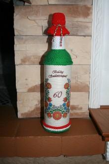 Nádoby - Narodeninová fľaša - Kalocsai - 8197073_