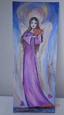 Obrazy - Anjelik lásky  - svietiaci - 8197203_