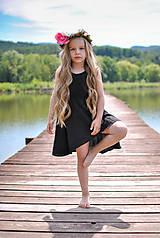 Detské oblečenie - Šaty ELLA čierne - 8194268_